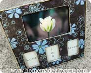 Click here for the simple decoupage frame tutorial...
