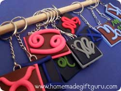 Scroll down for sun sign keychain tutorials...