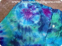 Tie dye boxer shorts or other things using the marble tie dye technique...