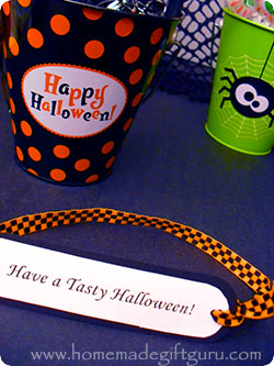 The following Halloween printable gift tags can be printed on card stock, matted on card stock and embellished for your own custom look...