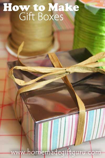 Learn how to make gift boxes at www.homemade giftguru.com
