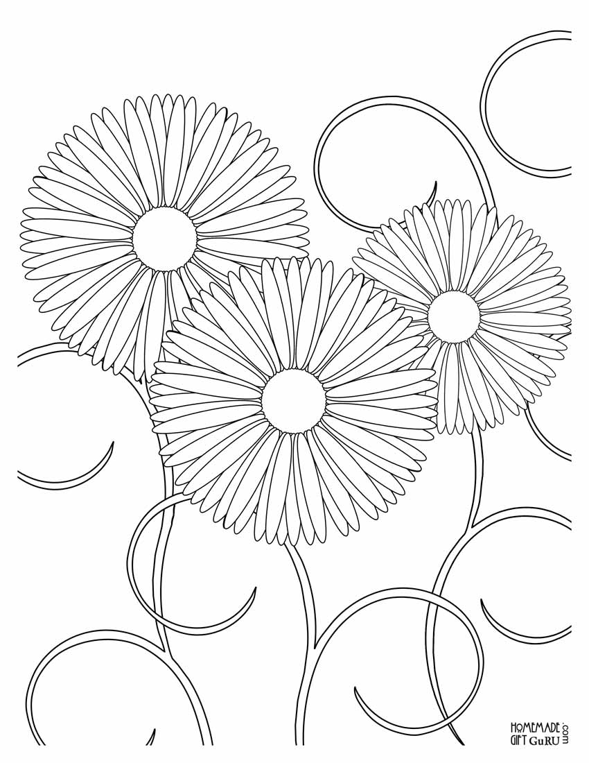 Right click on this flower coloring page then choose print picture...
