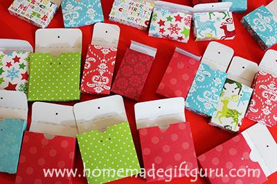 DIY Advent Calendar Templates by www.homemadegiftguru.com
