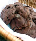 Double chocolate cookies in a jar gift make a tasty Halloween gift idea...