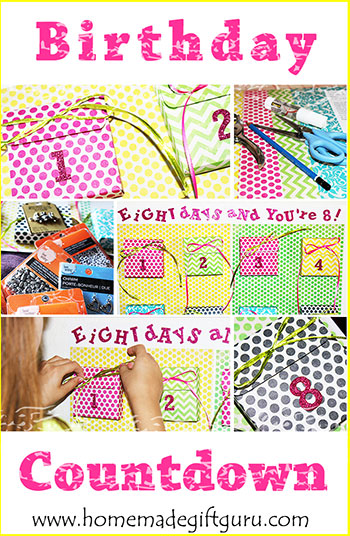 Use these advent calendar templates from www.homemadegiftguru.com to make a super fun and unique birthday countdown calendar for a memorable homemade birthday gift!