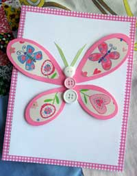 Make an easy butterfly outline card...