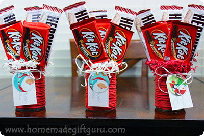 Candy Bouquet Instructions: Learn how to make candy bouquets for cute and frugal homemade gifts!