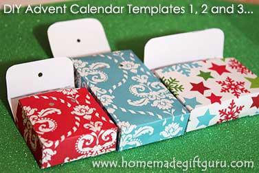 Make these beautiful boxes using countdown calendar templates from www.homemadegiftguru.com