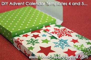 More advent calendar templates and homemade countdown calendar ideas from www.homemadegiftguru.com
