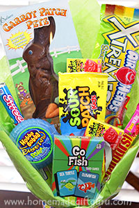 Arrange yummy Easter candy into a beautiful Easter candy bouquet!