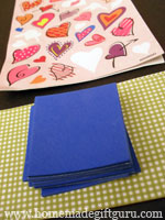 These homemade Valentines are made with stickers, foam and paper...