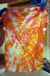 Unveiling a tie dye shirt is so exciting!