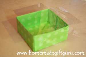 How to make the clear lid for your DIY gift box...