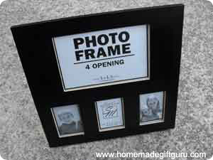 Here's the frame before the decoupage makeover...