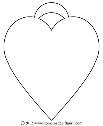 Heart Craft Gift Tag Template III . Simple and classic, this heart ...