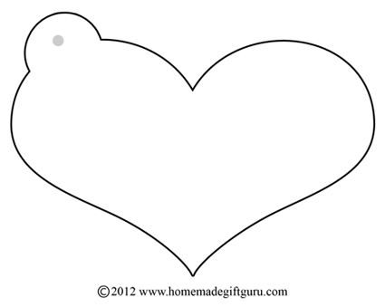 Printable Tags Template Template heart craft tag