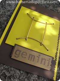 Easy card making project using the Gemini Zodiac Symbol...