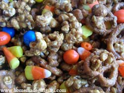 Halloween popcorn makes a festive homemade halloween treat...