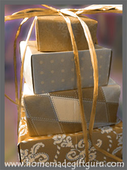 Learn how to make a gift tower from easy origami gift boxes...