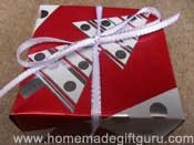 Homemade Masu gift box made with Christmas gift wrap paper...