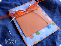 I came up with this pouch card making template to hold sendables - small gifts that don't cost much to make and mail...