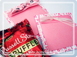 Make your own pocket cards for candy or notes...