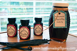 You can make your own gift tags or use the free printable vanilla extract gift tags I've provided...