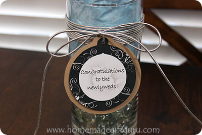 I've linked this picture to the wedding gift tag used in case you need it for your own chocolate candy bouquet!