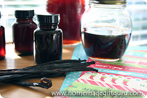 Learn how to create homemade vanilla extract for great homemade gift ideas...