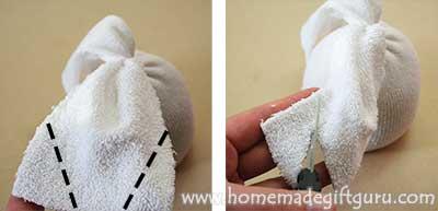 A leaf like shape makes great sock bunny ears...