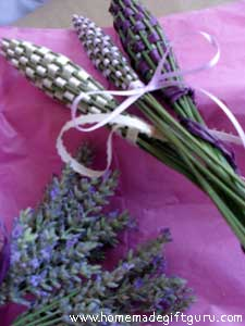 Lavender bottles are a great way to use up fresh lavender...