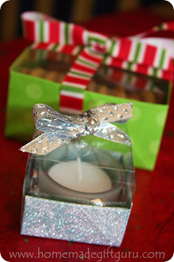 Learn how to make these two super cute homemade gift boxes with clear lids...