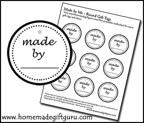 When your gifts are made with love, tag them with free printables from www.homemadegiftguru.com