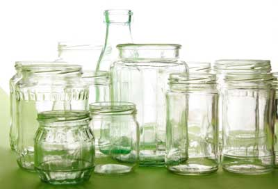 Collecting and reusing glass jars and bottles saves a lot of money when creating homemade jar gifts...