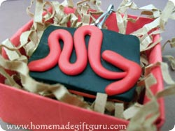 Scorpio symbol homemade key chain in a gift box...
