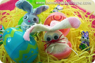 Sock rabbit sock bunny in an egg Easter gift ideas...