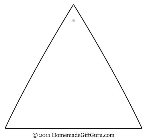 Free printable triangle gift tag template...