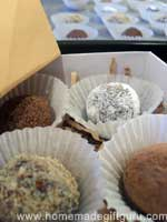 These treats are presented in a homemade gift box... click here for instructions.