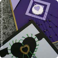make greeting cards with laser lace charms