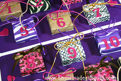 DIY Valentine countdown ideas plus free printable advent calendar templates by www.homemadegiftguru.com
