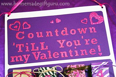 DIY Valentine Countdown Calendar: Countdown until you're my Valentine! Templates provided by www.homemadegiftguru.com