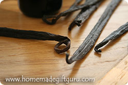 Here's my vanilla beans ready to become homemade vanilla extract made with love!