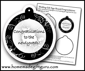 Get this free wedding gift tag printable here.