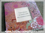 Decoupage picture frames make great homemade gifts...