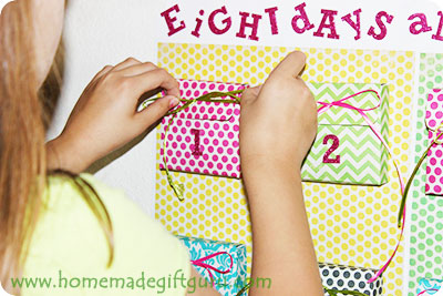 Learn how to make a super fun birthday countdown for your favorite birthday kiddo! Free printable templates found at www.homemadegiftguru.com