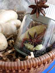 Recipe for chai tea in a jar, ginger root and tea strainer homemade gift basket...