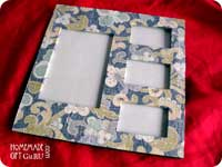 Scrapbook paper gives a cheap frame a whole new chance to shine...