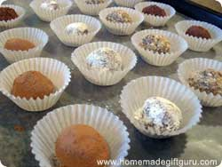 Easy homemade truffles coated in different toppings for more easy truffle recipe ideas...