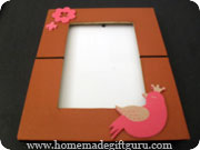 Foam stickers make quick and easy creative photo frames...
