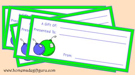 Make your own gift certificates!